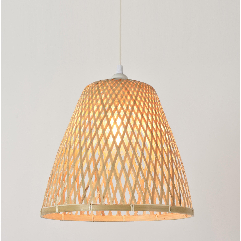 Suspension, nature bambou naturel COREP Kami 1 lumière(s) D.38 cm