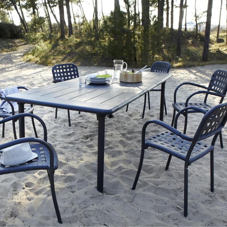 Table de jardin de repas NARDI Maestrale rectangulaire anthracite 8 ...