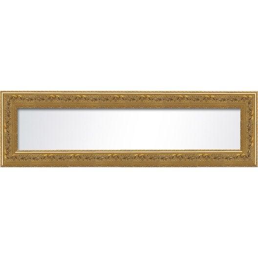 Miroir orn vieilli or x cm leroy merlin for Miroir 160 cm