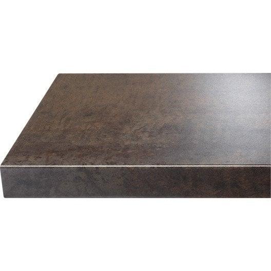 chant de plan de travail stratifi effet cuivre mat l 4 5 cm ep 0 5 mm leroy merlin. Black Bedroom Furniture Sets. Home Design Ideas