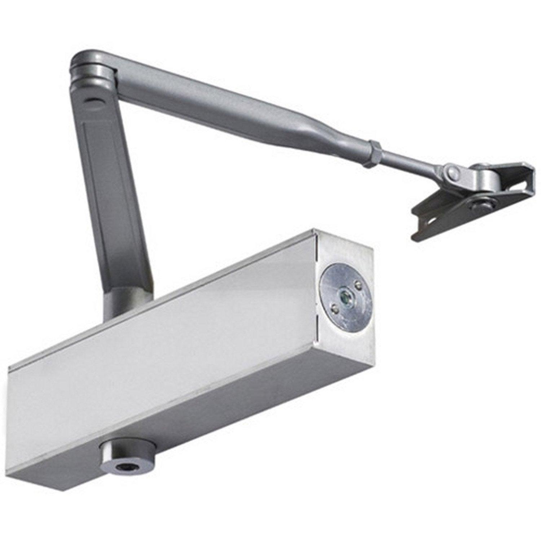 Fermeporte à Compas VACHETTE Aluminium Brossé Leroy Merlin - Fermeture de porte