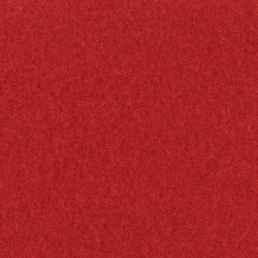Moquette velours Exposhow rouge 4 m