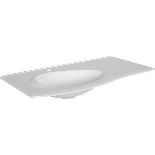 plan vasque simple elegance rsine de synthse 100 cm - 100 Cm Plan Vasque