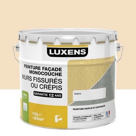 peinture façade murs fissurés luxens, sable, 10 l | leroy merlin - Peinture Epaisse Pour Cacher Defauts
