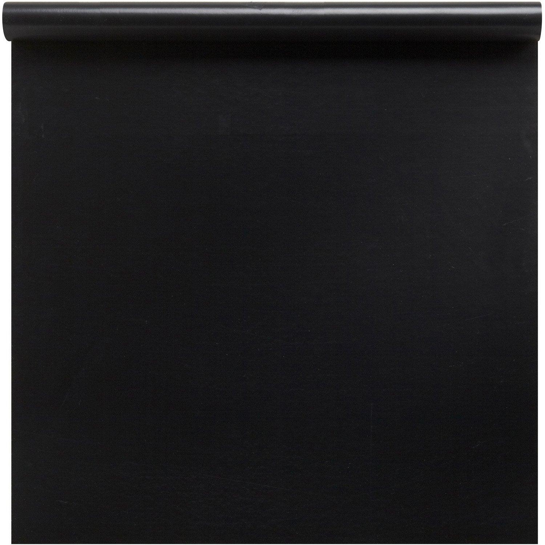 rev tement adh sif uni mat noir 1 5 m x m leroy. Black Bedroom Furniture Sets. Home Design Ideas