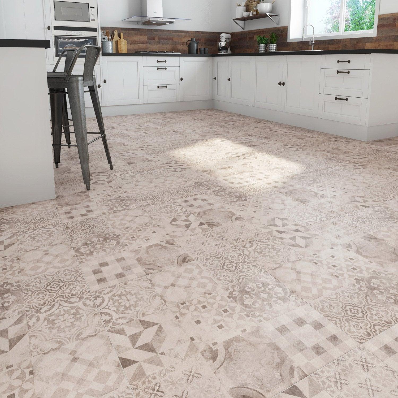 carrelage sol et mur gris effet ciment time d cor x cm leroy merlin. Black Bedroom Furniture Sets. Home Design Ideas