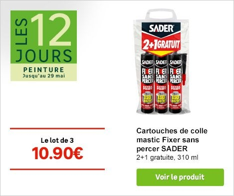 Op Jardiner - Cartouche colle Mastic Sader - 72935065