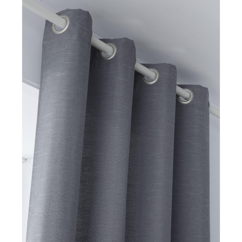 Rideau tamisant, Indigo, gris, l.135 x H.250 cm