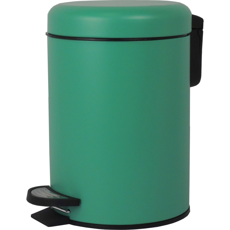 Poubelle de salle de bains 3 l mint n°2 SENSEA Pop