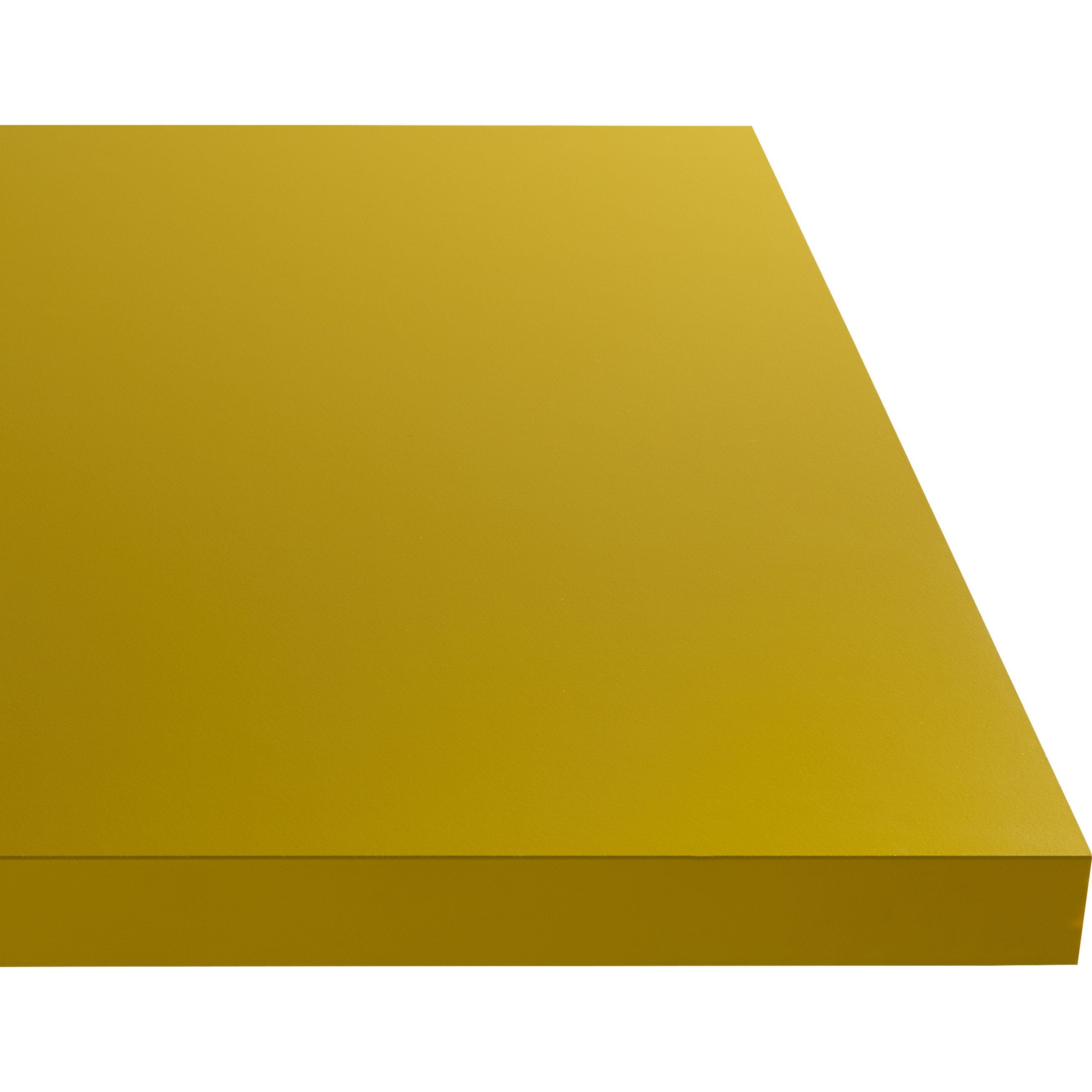 Plan de travail stratifié Jaune serin Mat L.300 x P.65 cm, Ep.38 mm
