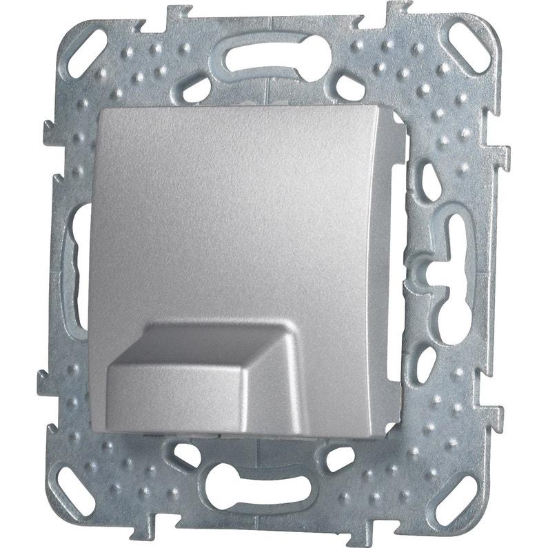 Sortie De Câble Unicatop Schneider Electric Gris Aluminium Leroy