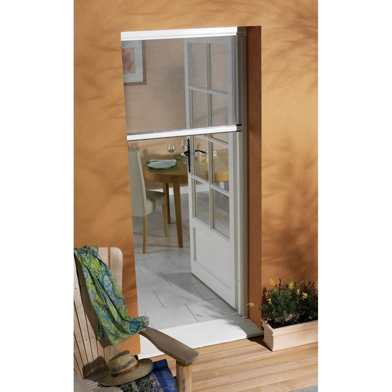 Moustiquaire Pour Porte Fenetre A Enroulement Vertical Moustikit H 230 X L 125cm Leroy Merlin
