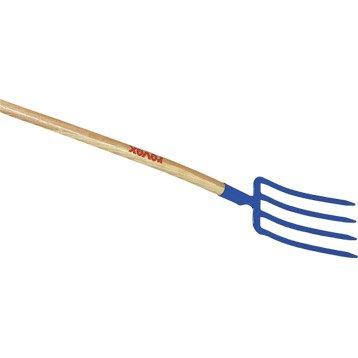 Fourche à bêcher acier forgé REVEX manche bois L.100 cm