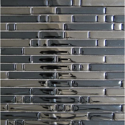 Mosa que mur ice tendance anthracite leroy merlin - Carrelage mosaique leroy merlin ...