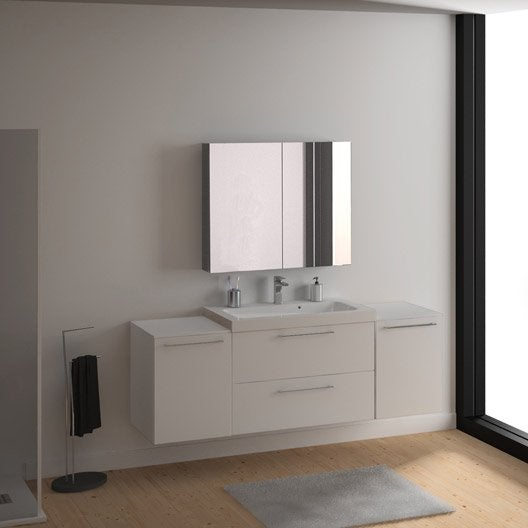 meuble vasque 91 cm blanc remix leroy merlin. Black Bedroom Furniture Sets. Home Design Ideas