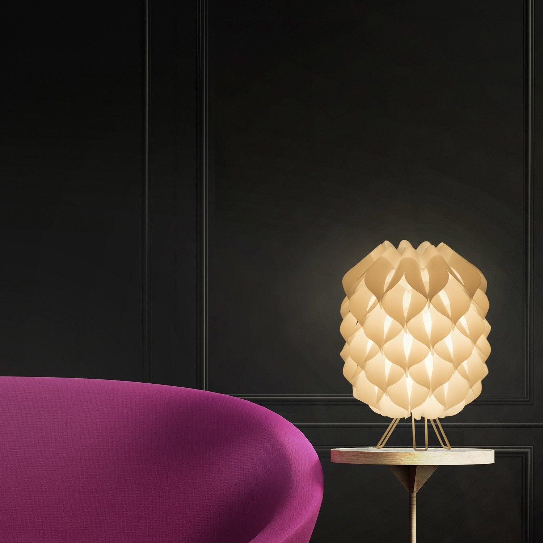 Lampe, métal blanc Iris