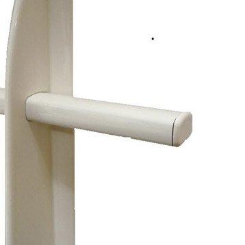 Lot de 5 embouts de lisse de lisse TIERAL aluminium blanc H.2.8 x l.2.5 cm