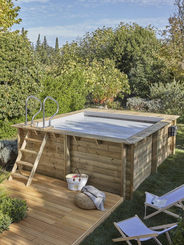 jardin piscine bois proswell