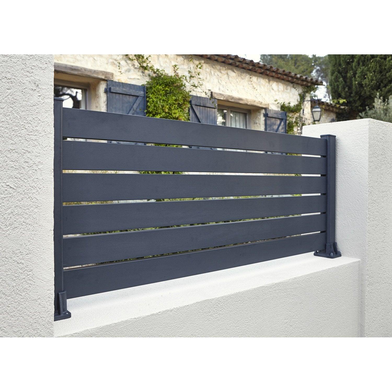 lame de cl ture aluminium klos up naterial gris zingu h 9 x cm leroy merlin. Black Bedroom Furniture Sets. Home Design Ideas