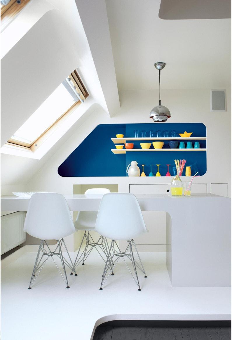 Comment Peindre Un Plafond Sans Trace peinture dulux valentine, plafond sans trace architecte, blanc, mat 2.5 l