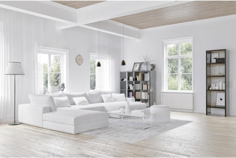 Peinture Blanc Mur Et Plafond Lumiereespace Dulux Valentine