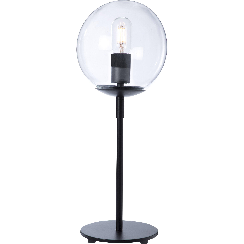 Lampe, charme romantique, verre noir, LUSSIOL Globus