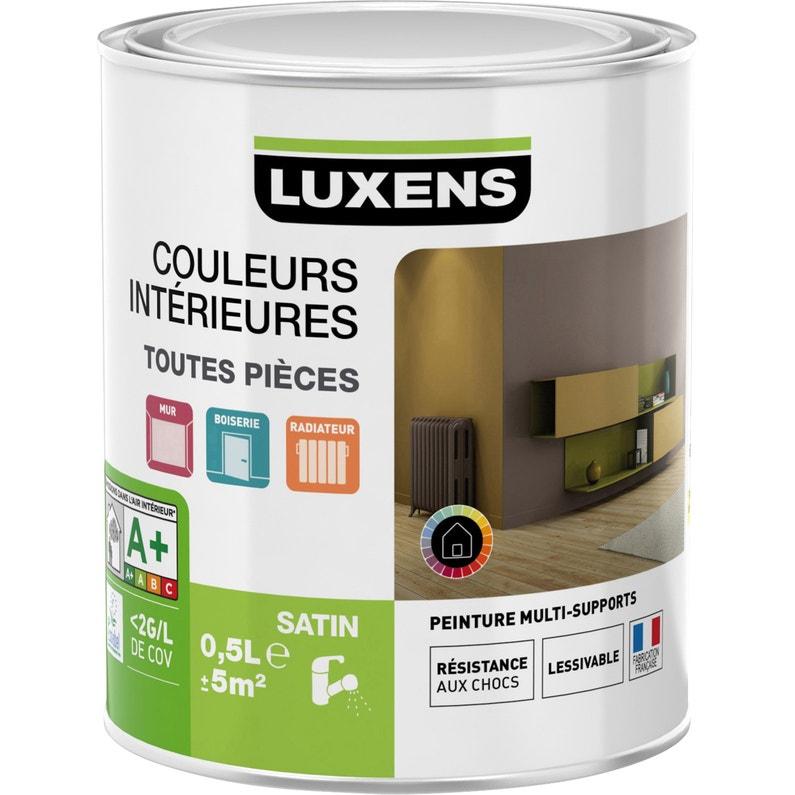 Peinture Blanc Blanc 0 Satin Luxens Couleurs Intérieures Satin 0 5 L