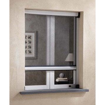 Moustiquaire pour fenêtre à enroulement vertical ARTENS H.160 x l.100 cm