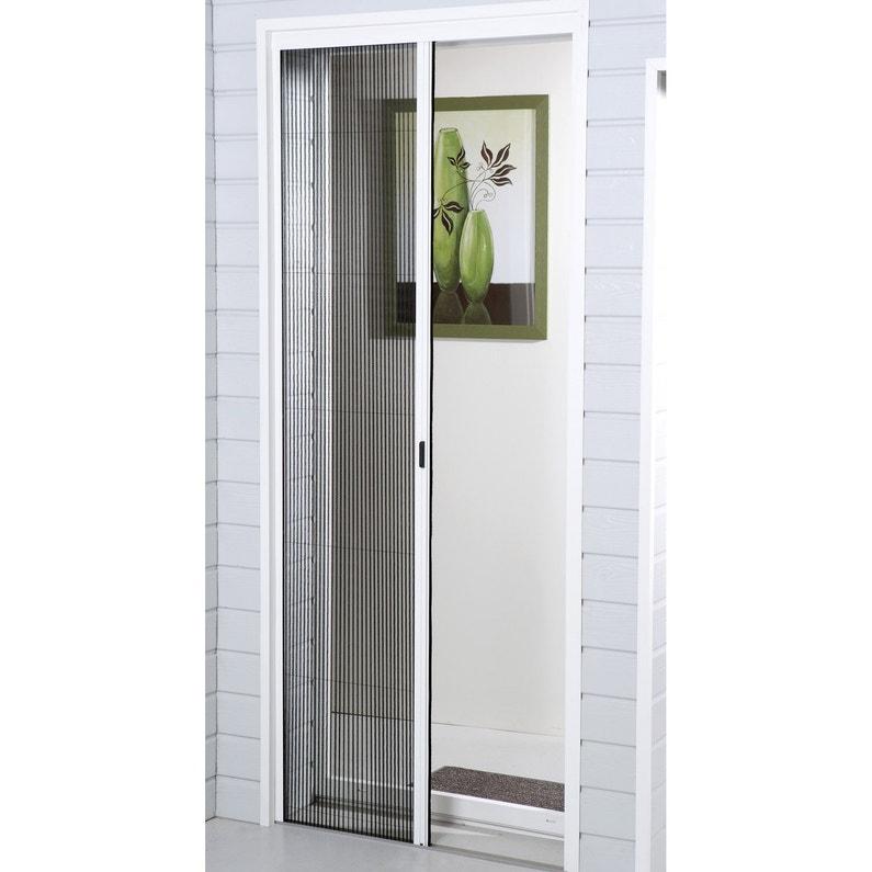 Moustiquaire Pour Porte Fenetre Plissee Moustikit H 230 X L 140 Cm Leroy Merlin