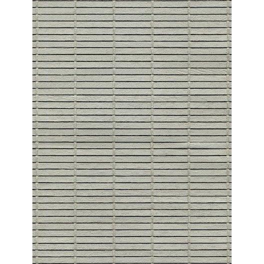 Store enrouleur tamisant bois tiss gris clair 70x180 cm leroy merlin Store bois leroy merlin
