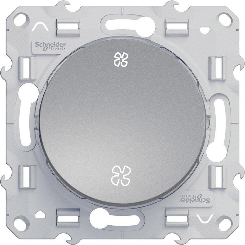 Commande Vmc Odace Schneider Electric Gris Aluminium