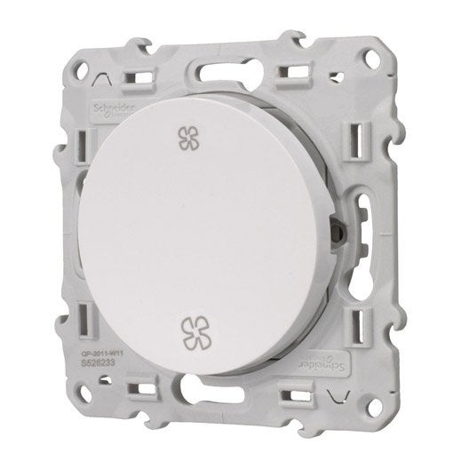 Commande vmc odace schneider electric blanc leroy merlin for Interrupteur vmc 3 positions leroy merlin