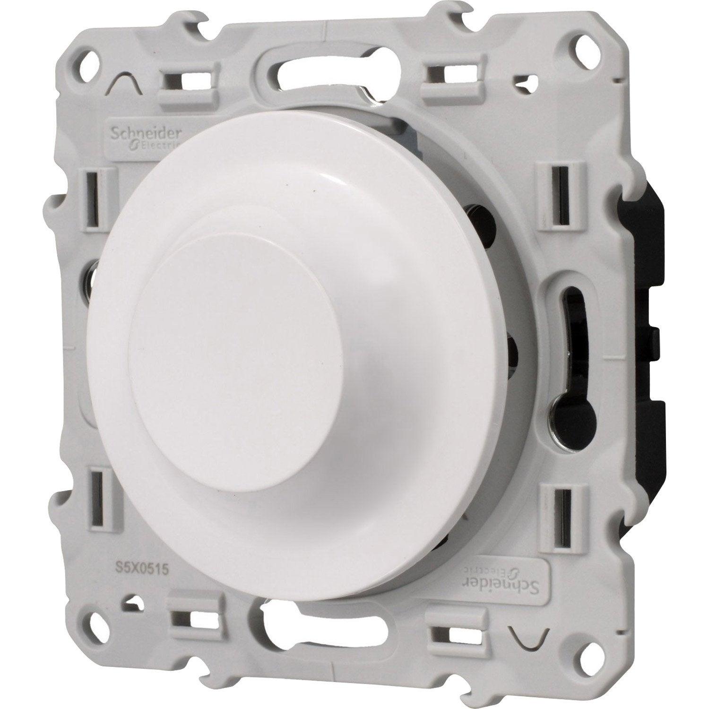Variateur odace schneider electric blanc leroy merlin - Interrupteur variateur led ...