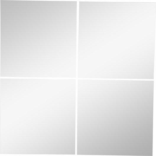 Lot de 4 miroirs non lumineux adh sifs carr s x for Miroir 50x50