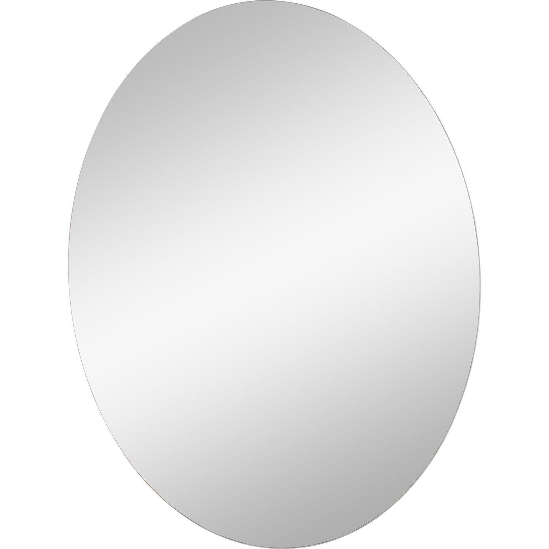 Miroir non lumineux d coup ovale x cm poli for Miroir 50 x 60