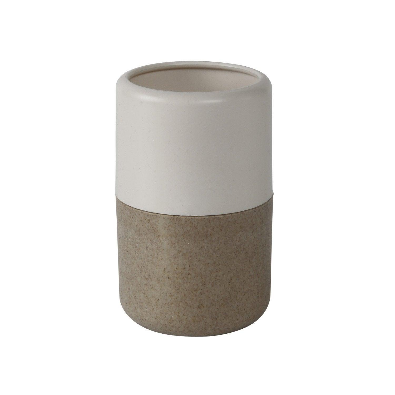 Gobelet plastique Ecolo, blanc-blanc 0