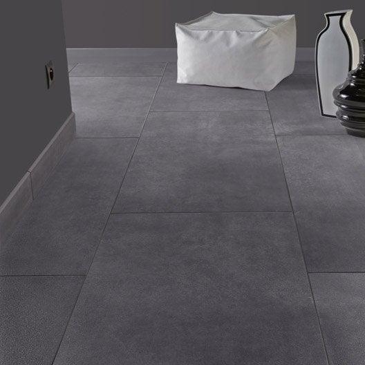 Carrelage sol et mur gris smoke effet b ton live leroy for Carrelage effet beton gris