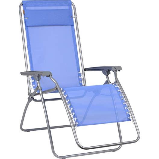relax de jardin en acier relaxe rt myosotis leroy merlin. Black Bedroom Furniture Sets. Home Design Ideas