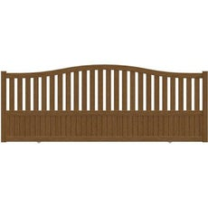 Portail portail aluminium bois fer pvc battant for Portail alu marron