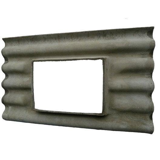 Plaque ondul fibrociment gris callibo calliprofil plaque a chassis gris 5 onde leroy merlin - Plaque fibro ciment ...