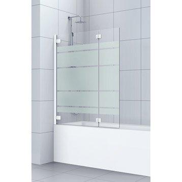 Pare baignoire salle de bains leroy merlin - Pare douche coulissant ...
