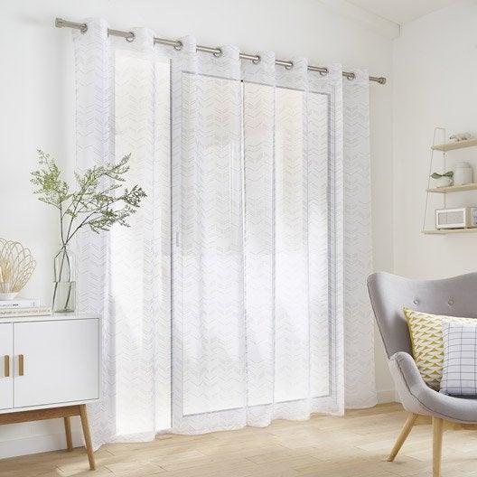 voilage au meilleur prix leroy merlin. Black Bedroom Furniture Sets. Home Design Ideas