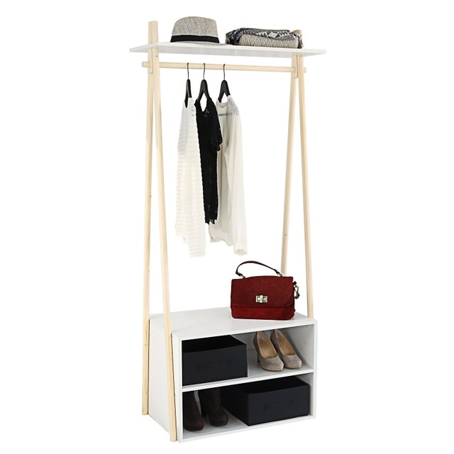 Une Ambiance Scandinave Au Coin Dressing Leroy Merlin