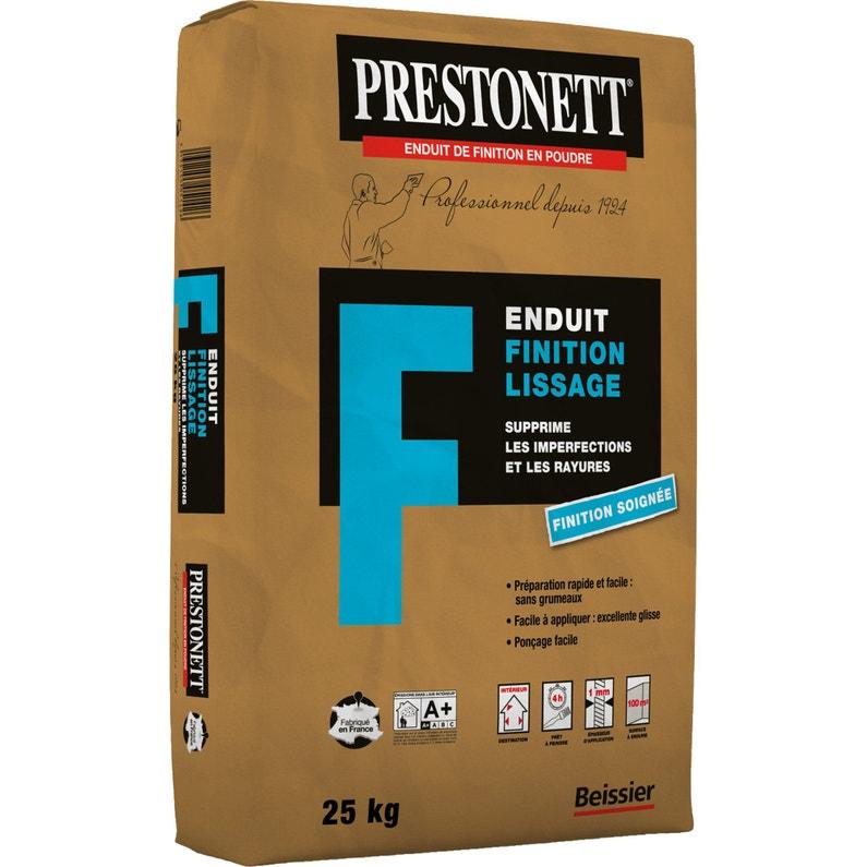 Enduit De Lissage Poudre Fin Blanc Prestonett 25 Kg