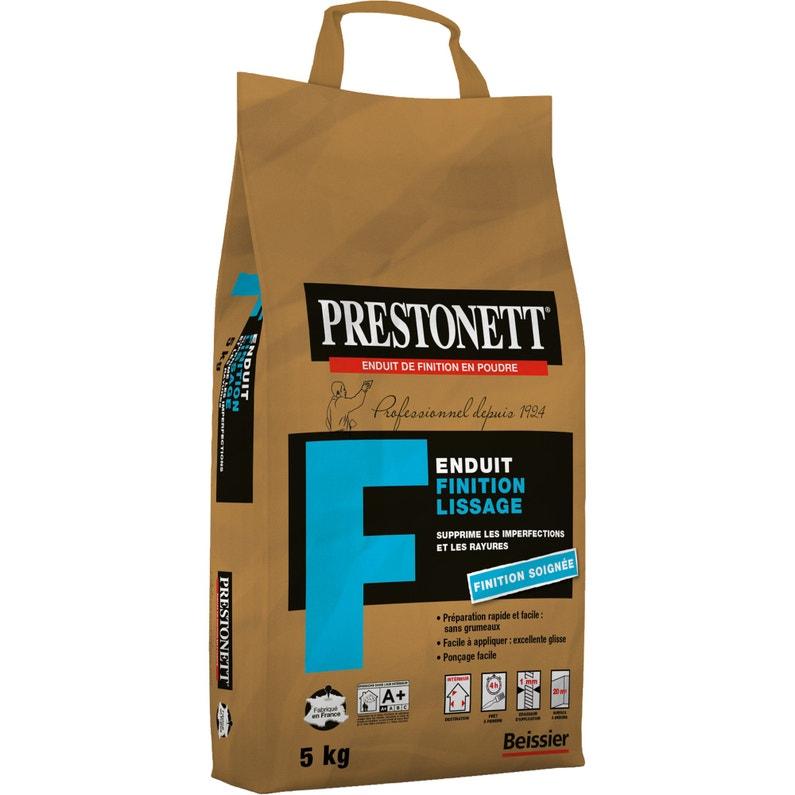 Enduit De Lissage Poudre Fin Blanc Prestonett 5 Kg