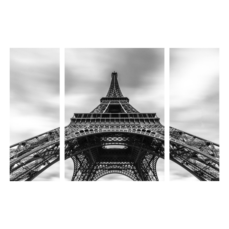 Verre imprimé TOUR EIFFEL SET, noir et blanc ARTIS l.120 x H.80 cm