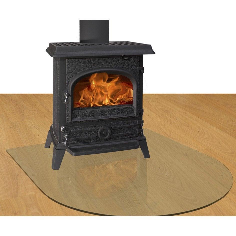 plaque de protection sol verre delta demi ronde x h. Black Bedroom Furniture Sets. Home Design Ideas