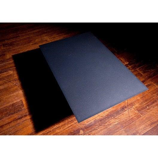 plaque de protection sol acier laqué époxy noir sablé equation, l