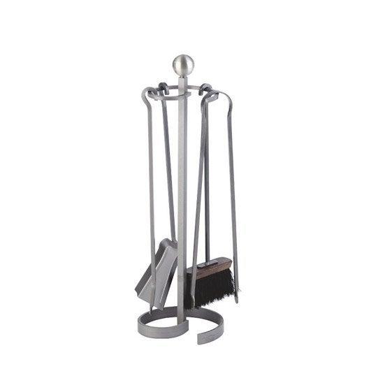 serviteur acier gris atelier dixneuf promesse 4 accessoires leroy merlin. Black Bedroom Furniture Sets. Home Design Ideas