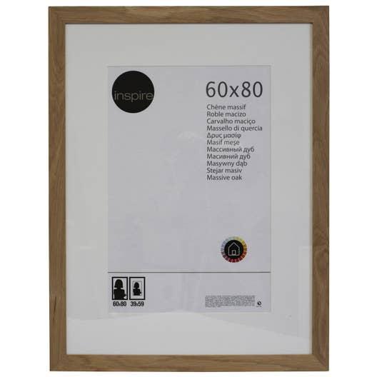 Cadre nakato 60 x 80 cm ch ne clair leroy merlin - Cadre 80 x 120 ...
